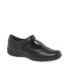 Geox - Black junior shadow girls school shoes