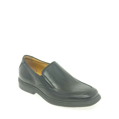 Geox - Black leather 'Federico Slip' boys school shoes