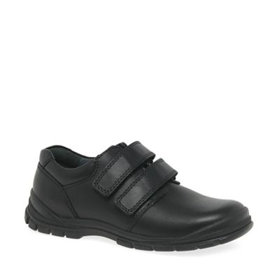 Start-rite - Black leather 'Engineer' riptape shoes