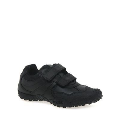 fe93956ce2 Geox Black leather  Junior Giant  boys school shoes