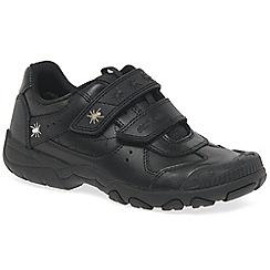 Start-rite - Black leather 'Tarantula' school shoes