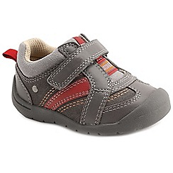 Start-rite - Grey leather 'Super Soft Play' boys first shoes