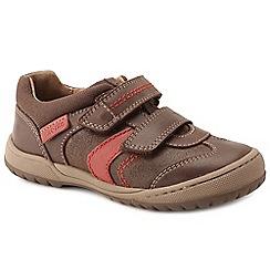 Start-rite - Brown leather 'Flexy Tough Pre' boys riptape shoes