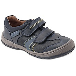 Start-rite - Navy leather 'Flexy Tough Pre' boys riptape shoes