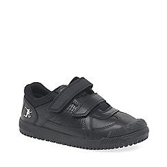 Start-rite - Boys' black leather 'Cup Final II' school shoes