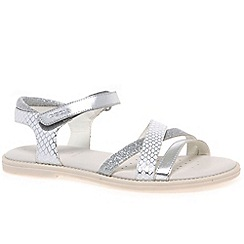Geox - Girls' silver 'Junior Karly' strappy sandals