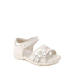 Start-rite - White leather 'Phoebe' girls first sandals