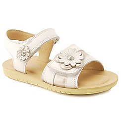 Start-rite - White leather 'Soft Clara' infant sandals