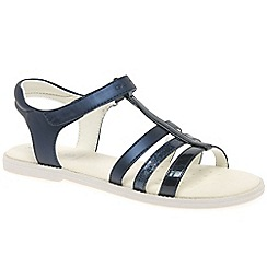 Geox - Girls navy 'Karly T-Strap' strappy sandals
