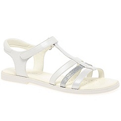 Geox - Girls white 'Karly T-Strap' strappy sandals
