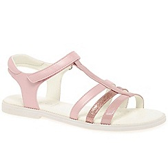 Geox - Girls pink 'Karly T-Strap' strappy sandals