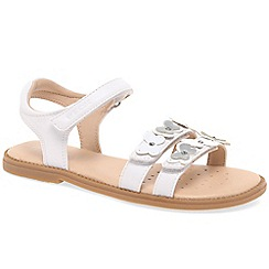 Geox - Girls white leather 'Junior Karly Butterfly' sandals