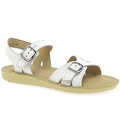 Startrite - Girls' white patent 'Senior Soft Harper' sandals