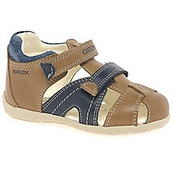 Geox - Baby boys' camel leather 'Kaytan' Infant Sandals