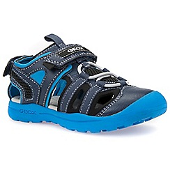 Geox - Boys' navy 'Junior Gleeful' fisherman sandals