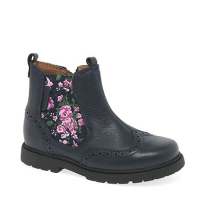 Start-rite - Girls' navy leather 'Chelsea' ankle boots