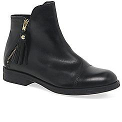 Geox - Girls' black leather 'Junior Agata Zip' boots