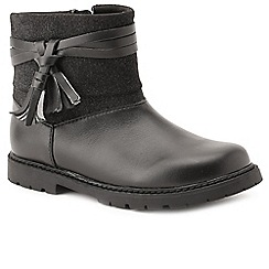Start-rite - Girls' black leather/suede 'Aria' infant ankle boots