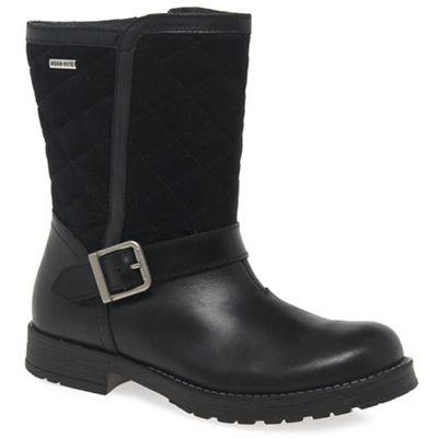 Start-rite - Girls' black leather/textile 'Aqua Jessie' boots