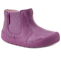Start-rite - Girls' bright purple leather 'Chelsea' girls first ankle boots