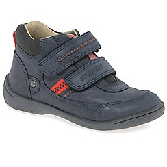 Start-rite - Navy leather 'Super Soft Max' boys first boots