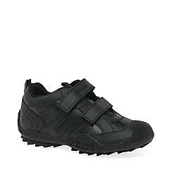 Geox - Boys' black 'Savage' School Shoes