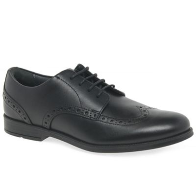 Start-rite - Boys' black leather 'Brogue Pri' school shoes
