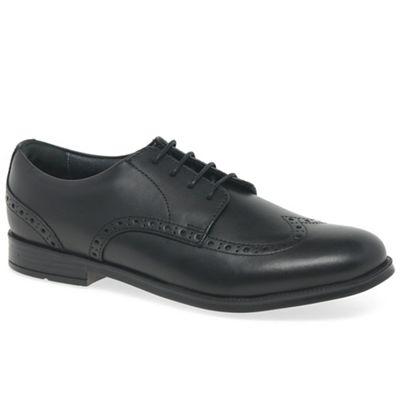 Start-rite - Boys' black leather 'Brogue' school shoes