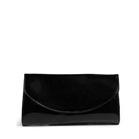 F' bag 'Martina Black Patent womens Van clutch Dal wI46qT7