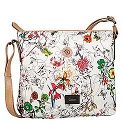 Gabor - White 'Granada Fleur' messenger bag