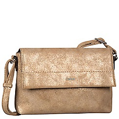 Gabor - Metallic 'Bella' messenger handbag