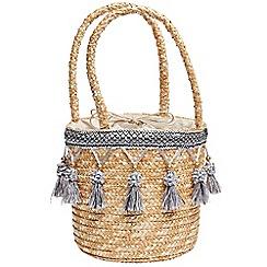 Joe Browns - Natural pretty tassel basket