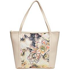 Joe Browns - Cream summer meadow tote bag