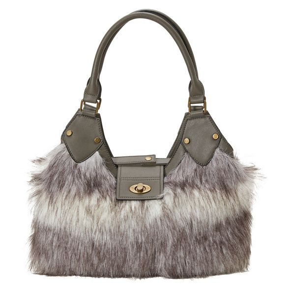 Joe faux anastasia Browns bag Grey fur UFUSqAx