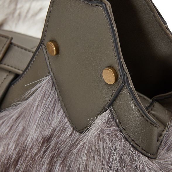 bag Joe anastasia faux Grey fur Browns XOpArxwO