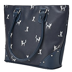 Joe Browns - Dark blue funky fox print bag