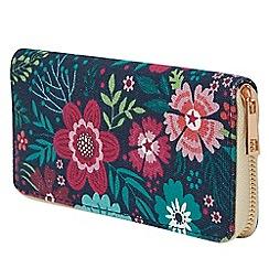 Joe Browns - Multicoloured floral fantasy zip purse