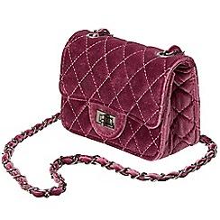 Joe Browns - Red cute mini velvet bag