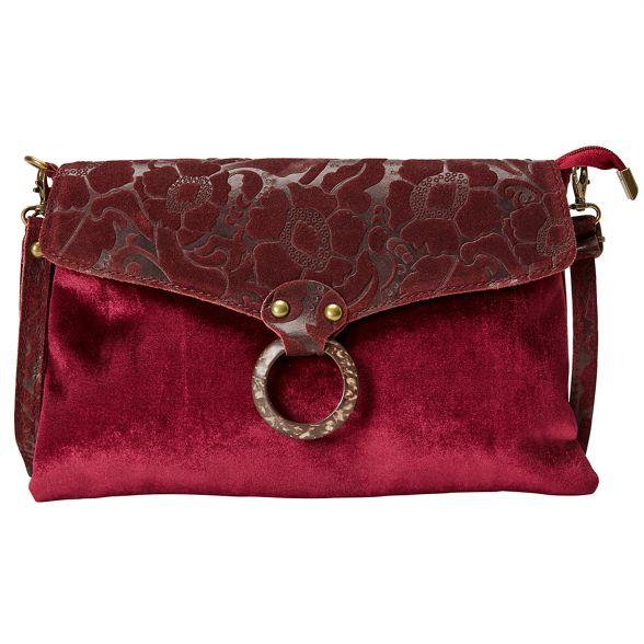 Browns leather Joe Red and velvet bag mistero fScawH