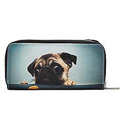 Joe Browns - Multicoloured cute pug double zip purse