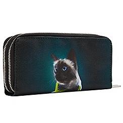 Joe Browns - Multicoloured cute cat double zip purse