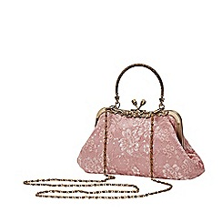 Joe Browns - Pale Pink Floral 'La Vie En Rose' Evening Bag