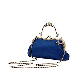 Joe Browns - Royal Blue Plain 'Butterfly At Dusk' Evening Bag