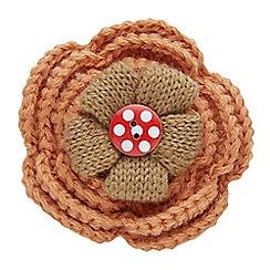 Joe Browns - Multi coloured crochet flower pin