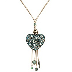 Joe Browns - Green heart filigree necklace