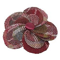 Joe Browns - Plum tweedy corsage pin