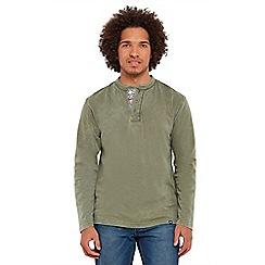 Joe Browns - Khaki pop of print henley t-shirt