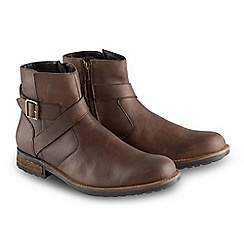 Joe Browns - Brown oiled leather biker boots