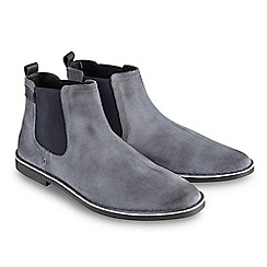 Joe Browns - Blue distressed finish Chelsea boots
