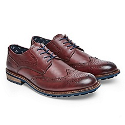 Joe Browns - Dark red get smart leather brogues
